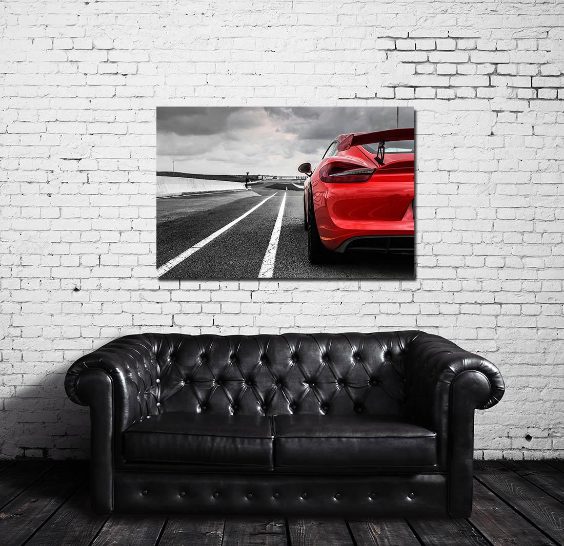 tableau voiture moderne porsche gt4 cars and roses. Black Bedroom Furniture Sets. Home Design Ideas