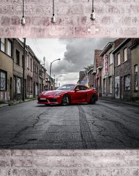 Photos Porsche GT4 Rouge