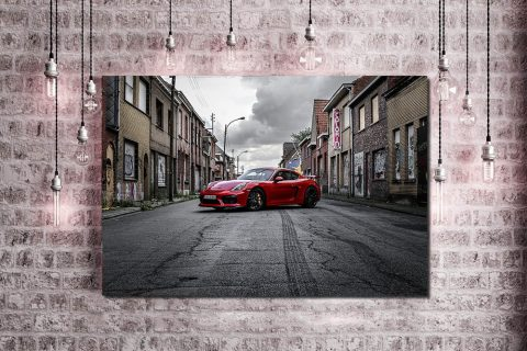 Photos Porsche GT4 Rouge