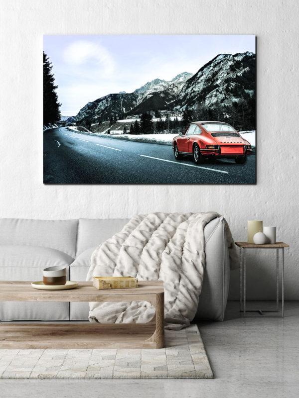 Création En Porsche à la Montagne