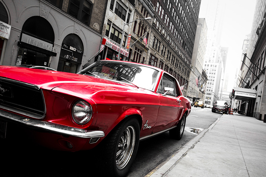 photographie ford mustang new york cars and roses. Black Bedroom Furniture Sets. Home Design Ideas