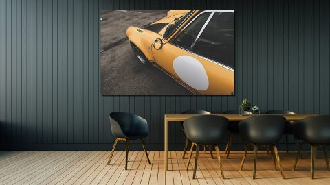 Tableau Photo de Porsche 911 Jaune