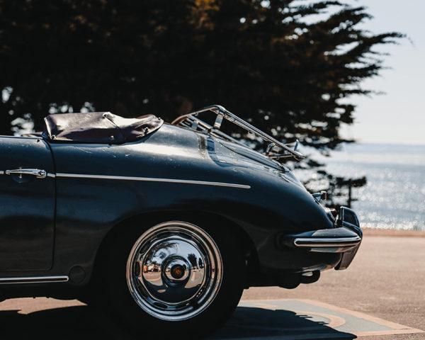 Porsche 356 at the Beach