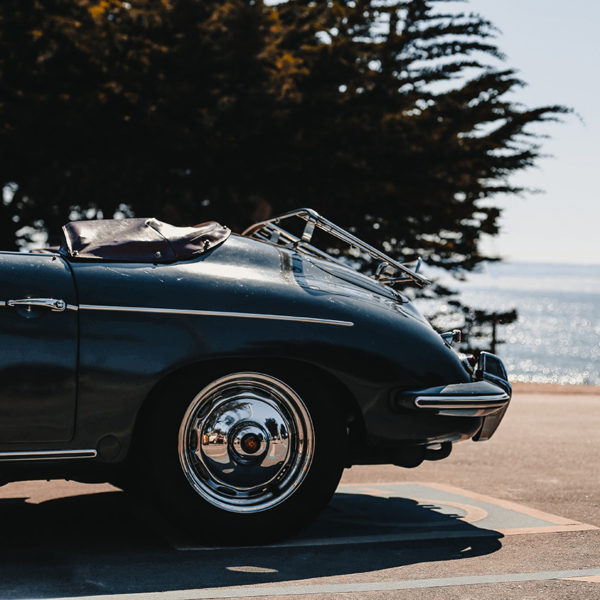 Porsche 356 at the Beach