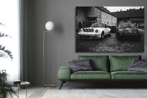 Photographie Noir et Blanc Duo Porsche