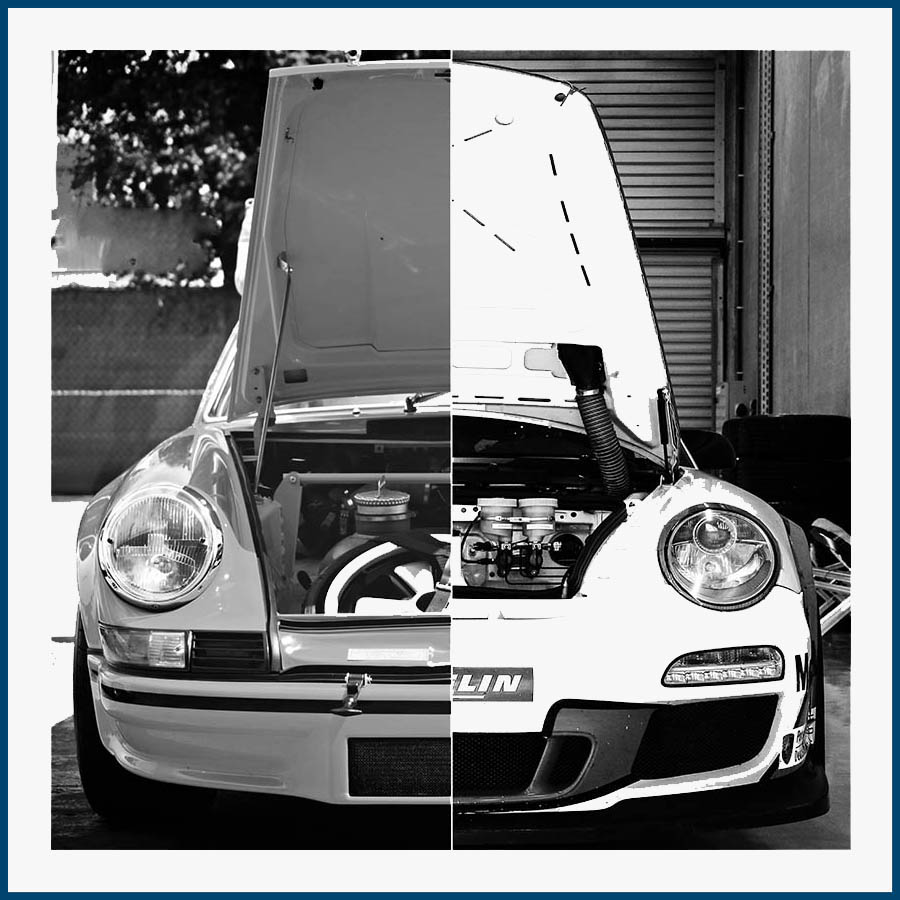 Cadre Porsche 2 capots