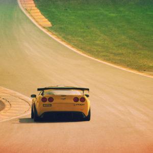 Corvette ZR1 in the Raidillon
