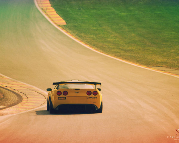 Corvette ZR1 in the Raidillon
