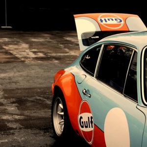 Old Porsche 901 Gulf Edition