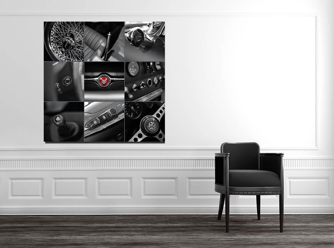 Photographies Murale Voiture Art Jaguar