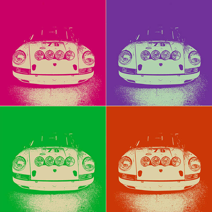Pop Art Moderne Porsche