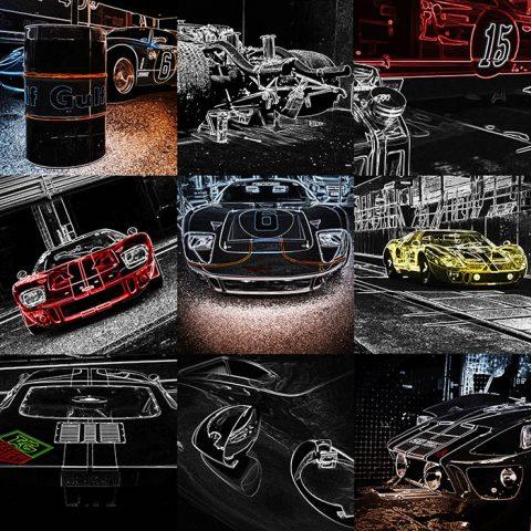 Pop Art Mural Ford GT40