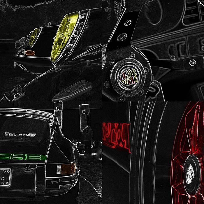 Pop Art Voiture Porsche 911