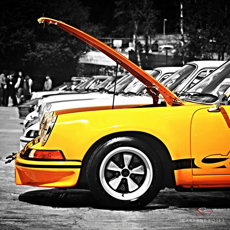Porsche 911 Carrera RS Hood Open - Square Version