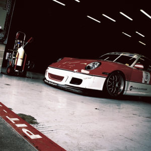 Porsche 911 GT3 with the Pit Lane Mark