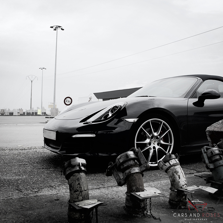 Porsche Boxster S at Service Station