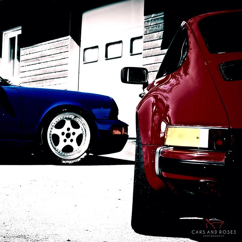 Porsche Carrera Duet - Red and Blue