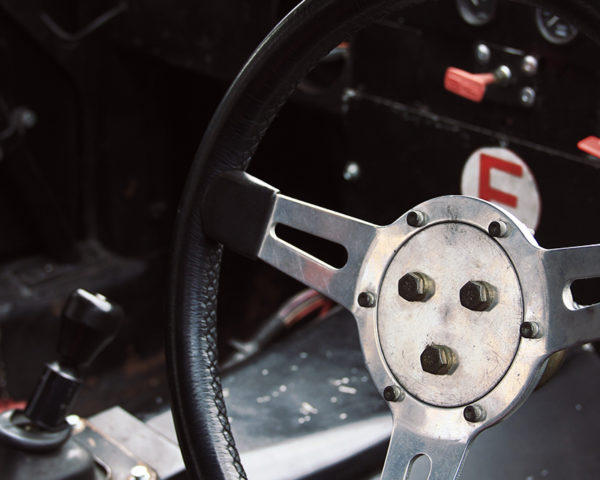 Steering Wheel of a Jaguar XJ