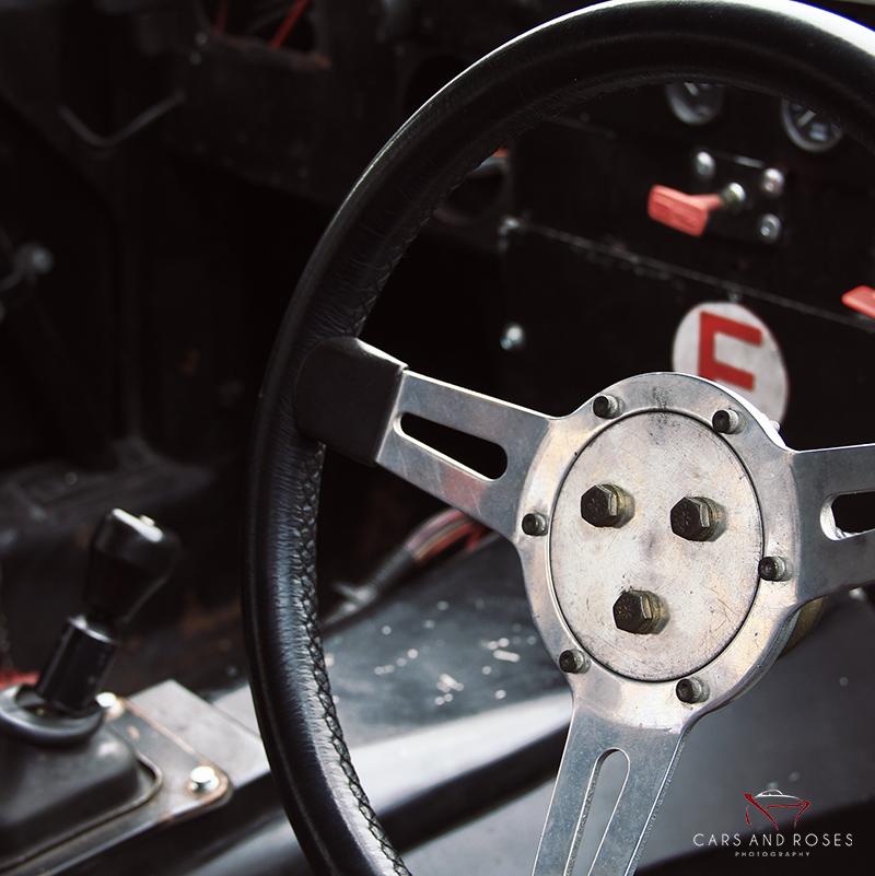 Steering Wheel of a Jaguar XJ