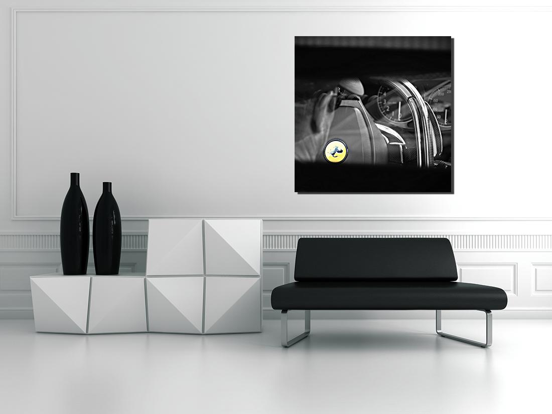 Cadre contemporain voiture volant ferrari cars and roses for Cadre contemporain