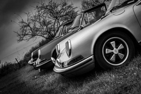 Tableau Moderne Design Vieille Porsche