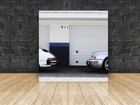Tableau Photo Plexi Porsche