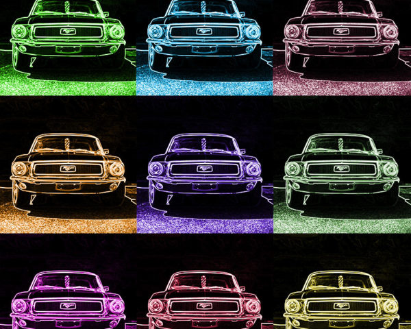 Tableau Pop Art Ford Mustang