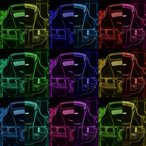 Tableau Porsche Pop Art