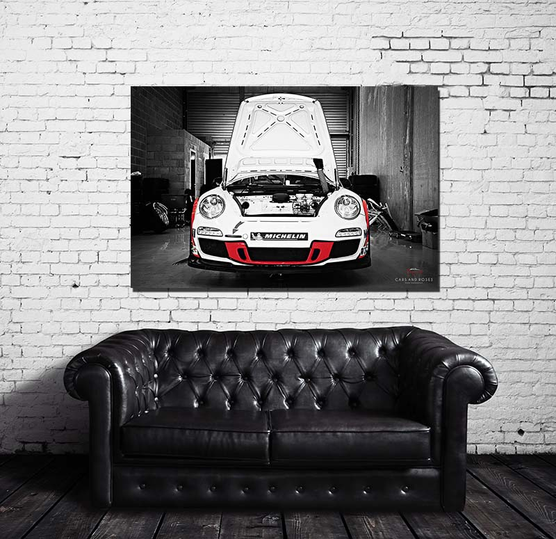 tableau toile imprim e grand format moderne porsche cars. Black Bedroom Furniture Sets. Home Design Ideas