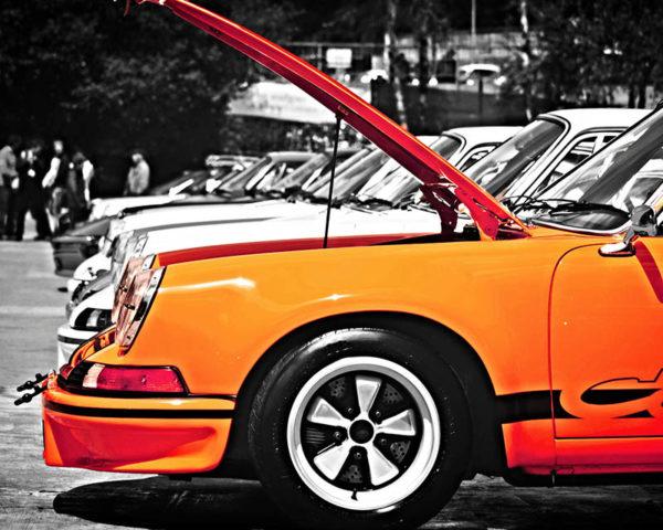 Tableau Triptyque Automobile Porsche