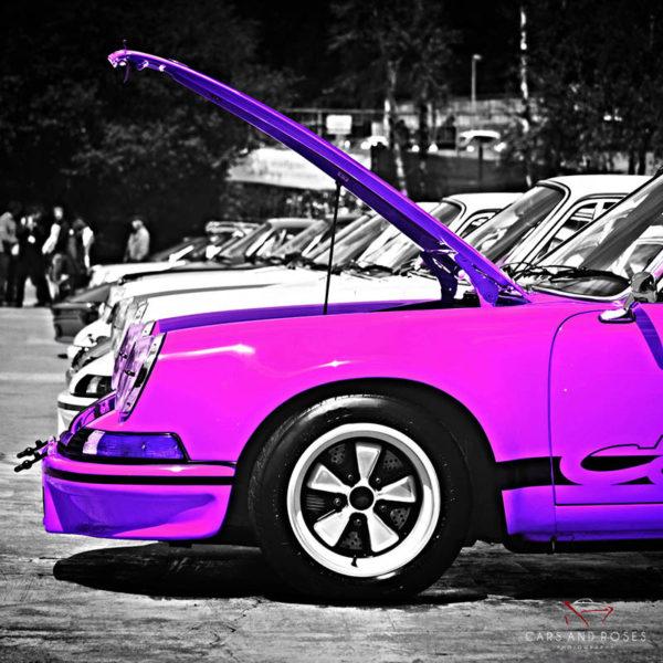 Tableau Toile Triptyque Porsche Violet