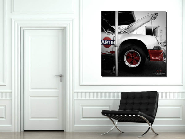 Tableau Vieille Voiture - Porsche 911 Martini