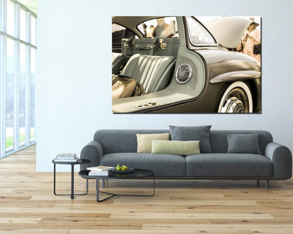 tableau d co mural mercedes 300 sl cars and roses. Black Bedroom Furniture Sets. Home Design Ideas