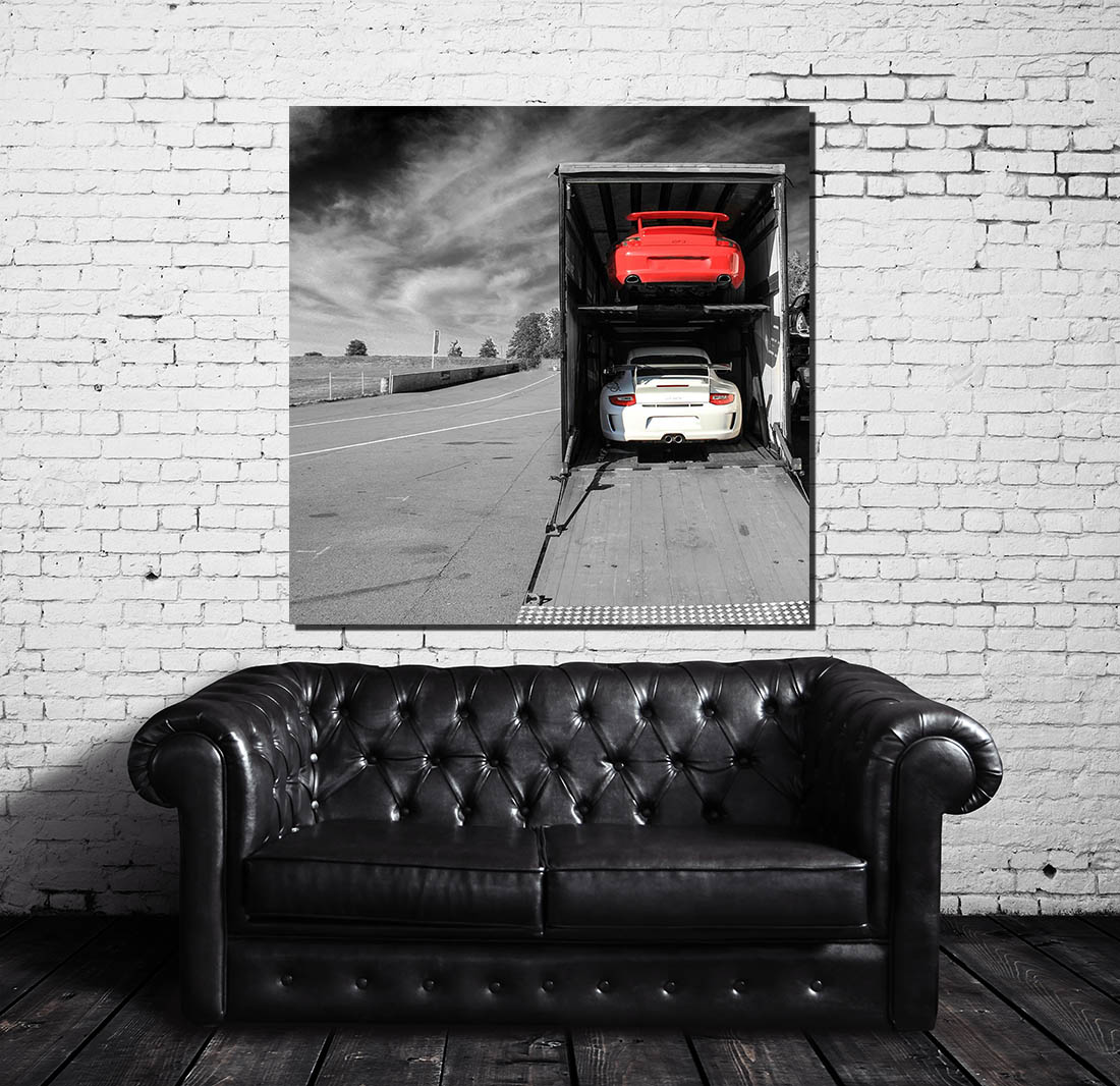 tableau moderne contemporain voiture falling skies cars and roses. Black Bedroom Furniture Sets. Home Design Ideas