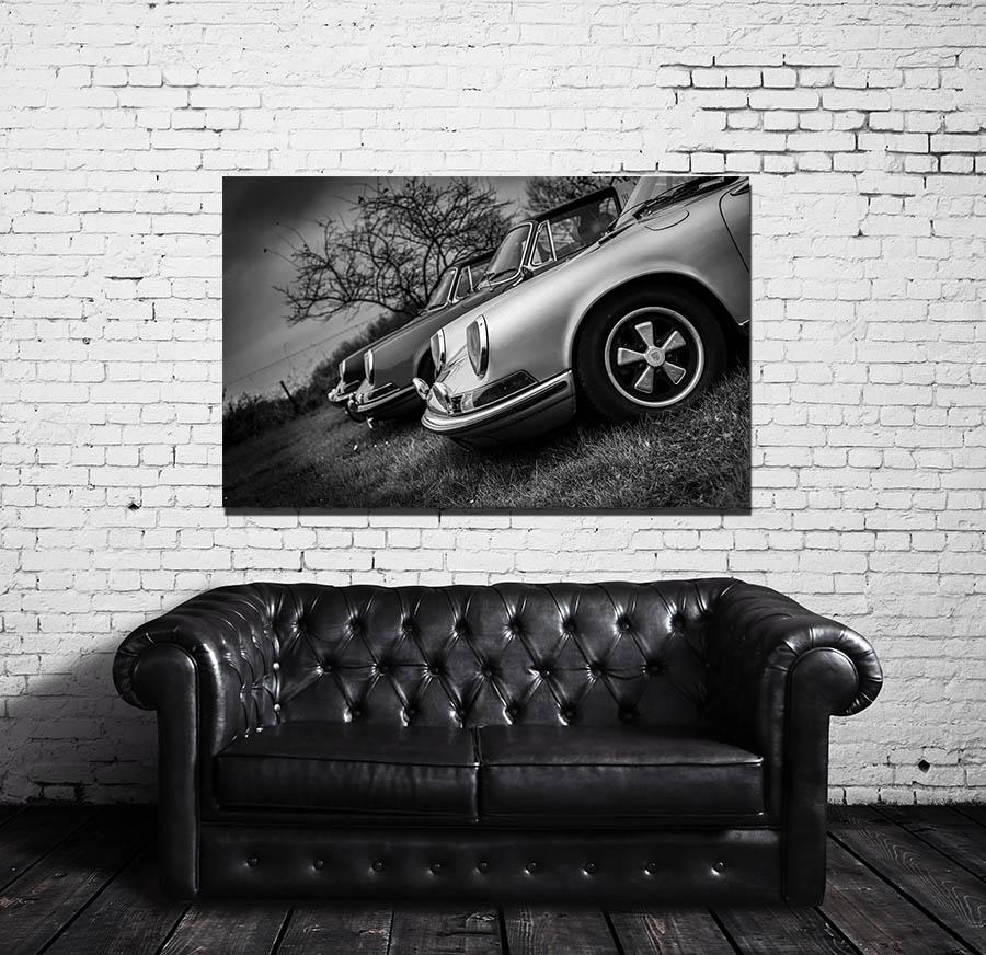 tableau moderne design vieille porsche cars and roses. Black Bedroom Furniture Sets. Home Design Ideas