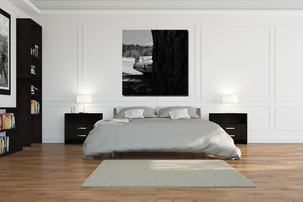 tableaux noir et blanc vieille porsche. Black Bedroom Furniture Sets. Home Design Ideas