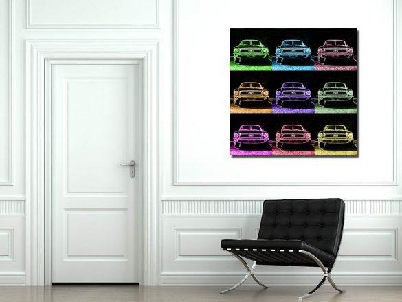 Tableaux Pop Art Ford Mustang