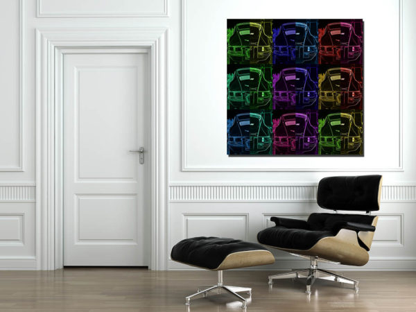 Tableaux Porsche Pop Art