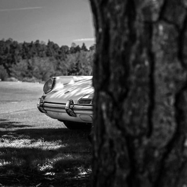 Tableau Noir et Blanc Vieille Porsche