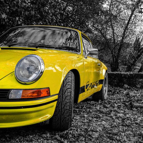 Photo Porsche Carrera RS Jaune