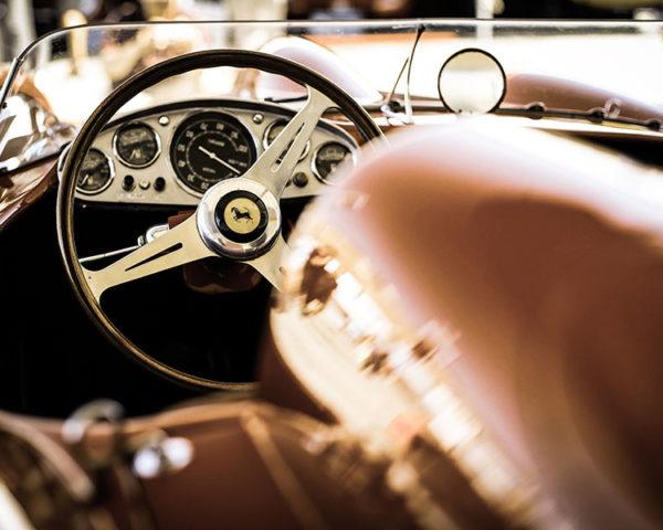 Photographie Vieille Ferrari