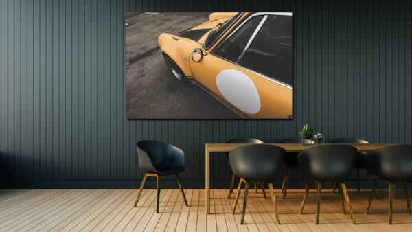 Tableau Photo de Porsche 911 Jaune