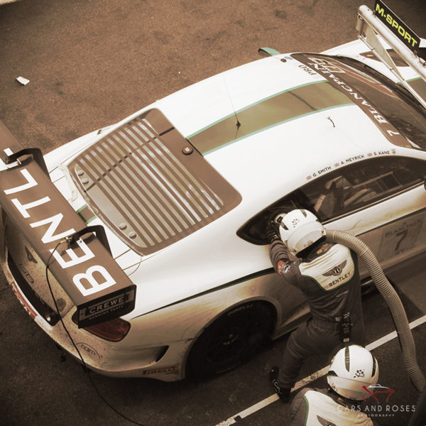 Bentley GT3 Refueling #13 Sepia Edition