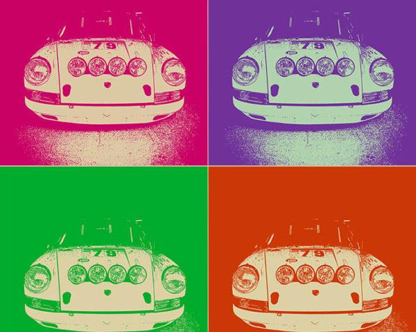 Pop Art Moderne Porsche