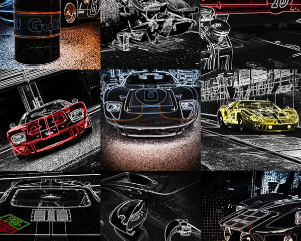 Pop Art Mural Ford GT40