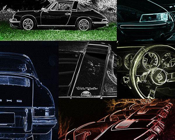 Pop Art Voiture Porsche Targa