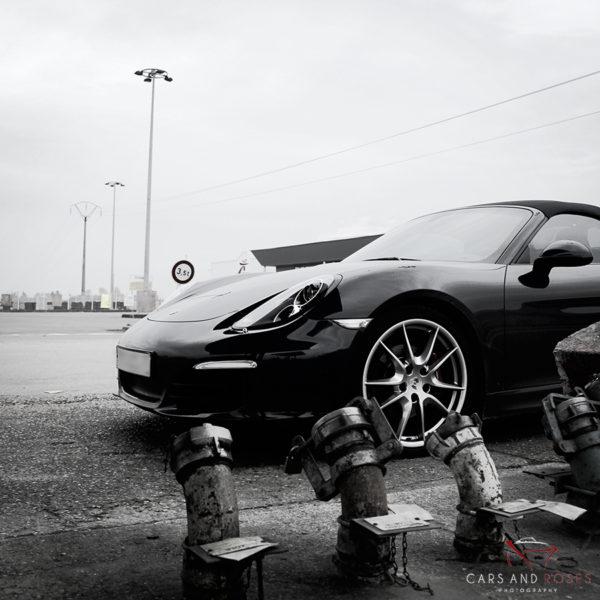 Porsche Boxster S at Service Station