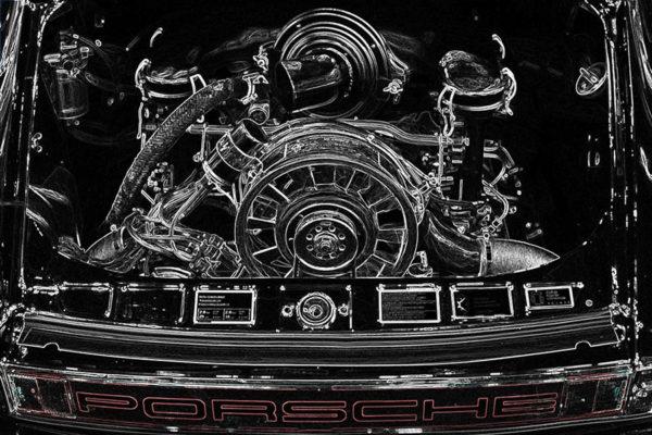 Tableau Photo Moteur Porsche